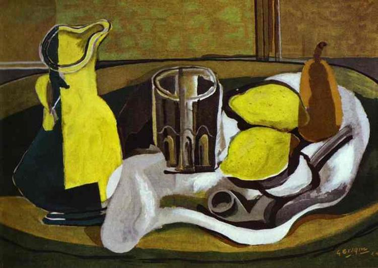 Still Life with Lemons and Pipe