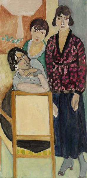 Henri_Matisse,_1917,_Three_Sisters_and_The_Rose_Marble_Table_(Les_Trois_sœurs_à_La_Table_de_marbre_rose),_oil_on_canvas,_194.3_x_96.2_cm,_Barnes_Foundation,_Philadelphia.jpg