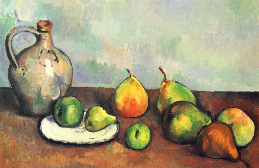 Paul Cezanne Still Life with Jug and Fruit