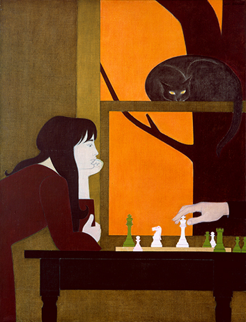 Will Barnet, Chess Game, 1973